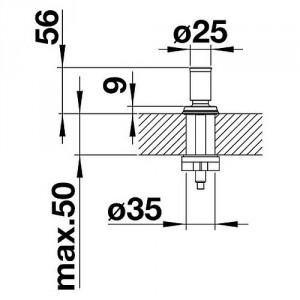 Ручка клапана-автомата Blanco Livia хром (521294)