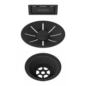 Отводная арматура InFino® с переливом черный матовый (239975)