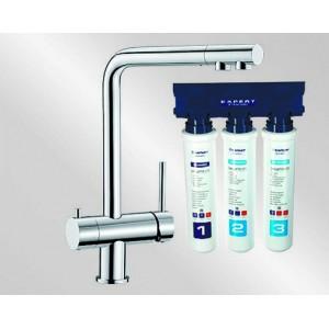 Комплект смеситель Blanco Fontas (хром) + BWT Барьер Expert Standart