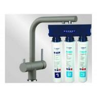Комплект смеситель Blanco Fontas II (серый беж) + BWT Барьер Expert Standart