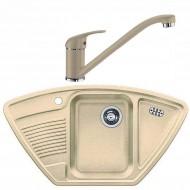 Комплект мойка Blanco Classic 9E + смеситель Blanco Daras (гранит)