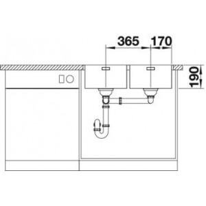 Blanco Andano 340/340-IF (с корзинчатым вентилем)