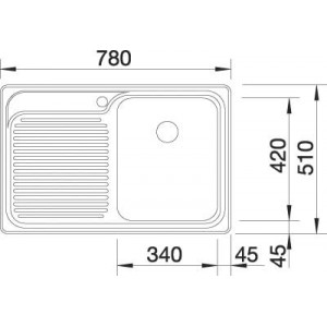 Комплект мойка Blanco Classic 45S + смеситель Blanco Daras (хром)