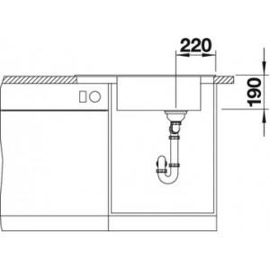 Blanco Elon XL 6S с клапаном-автоматом (белый)