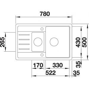 Комплект мойка Blanco Legra 6S Compact + смеситель Blanco Daras (хром)