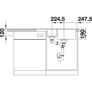 Комплект мойка Blanco Legra 6S Compact + смеситель Blanco Daras (гранит)