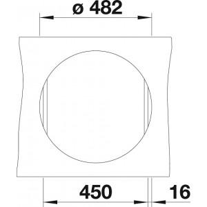 Комплект мойка Blanco Riona 45 + смеситель Blanco Mida (хром/гранит)
