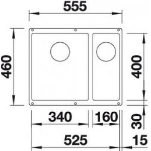 Blanco Subline 340/160-U (кофе, чаша слева)