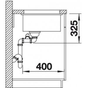 Blanco Subline 350/150-U Ceramic PuraPlus с клапаном-автоматом