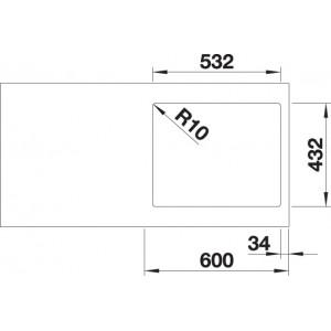 Blanco Subline 500-IF SteelFrame