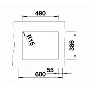 Blanco Subline 500-U Ceramic PuraPlus InFino