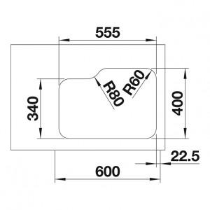 Blanco Supra 340/180-U