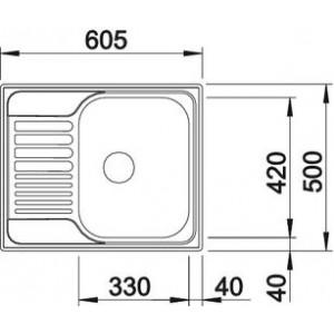 Blanco Tipo 45S mini