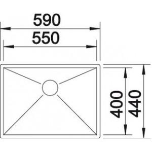 Blanco Zerox 550-IF/N