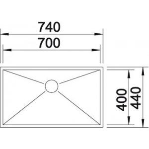 Blanco Zerox 700-U Durinox