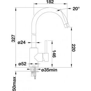 Комплект мойка Blanco Legra 6S Compact + смеситель Blanco Mida (хром)